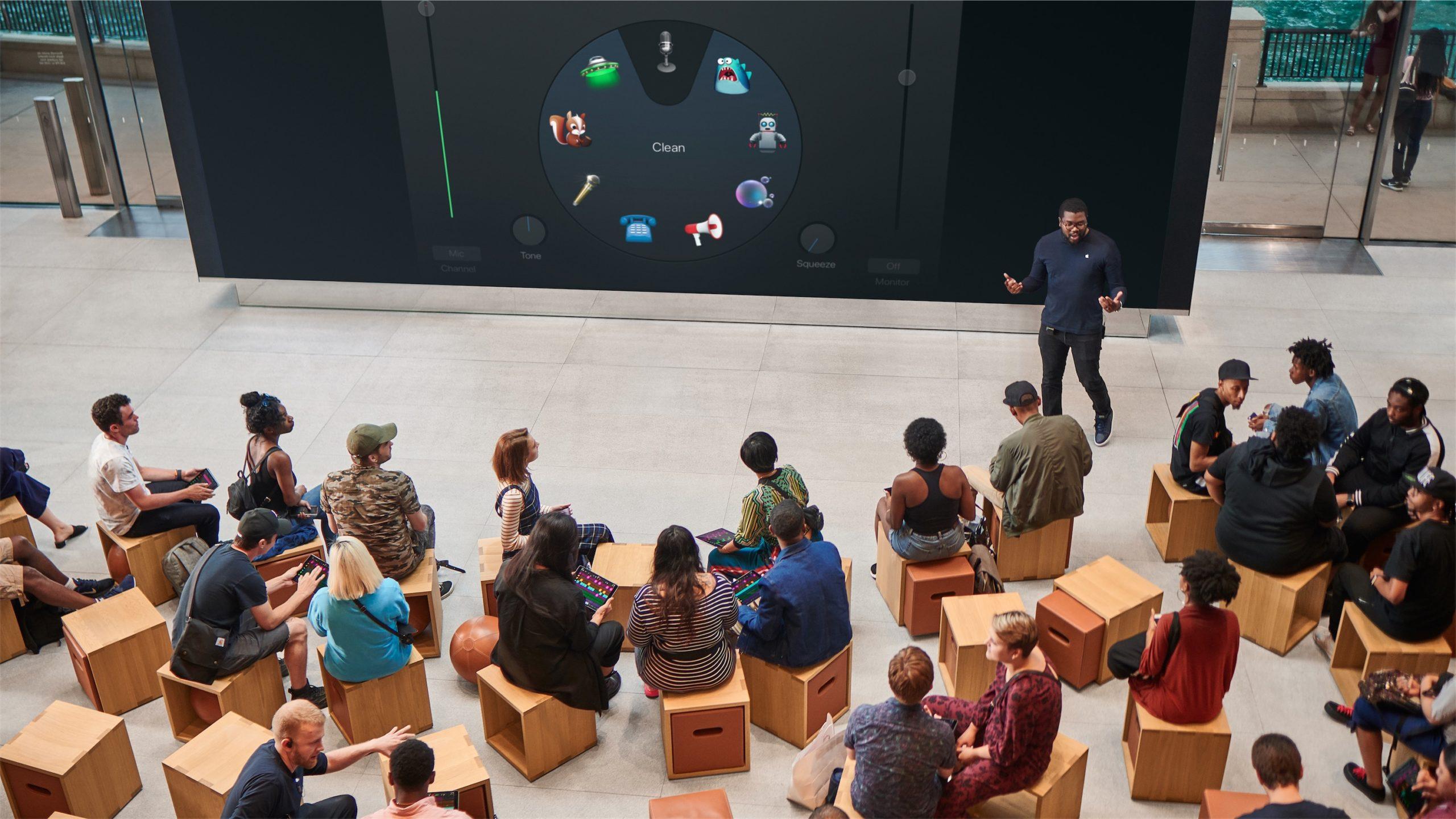 Novas sessões do Today at Apple