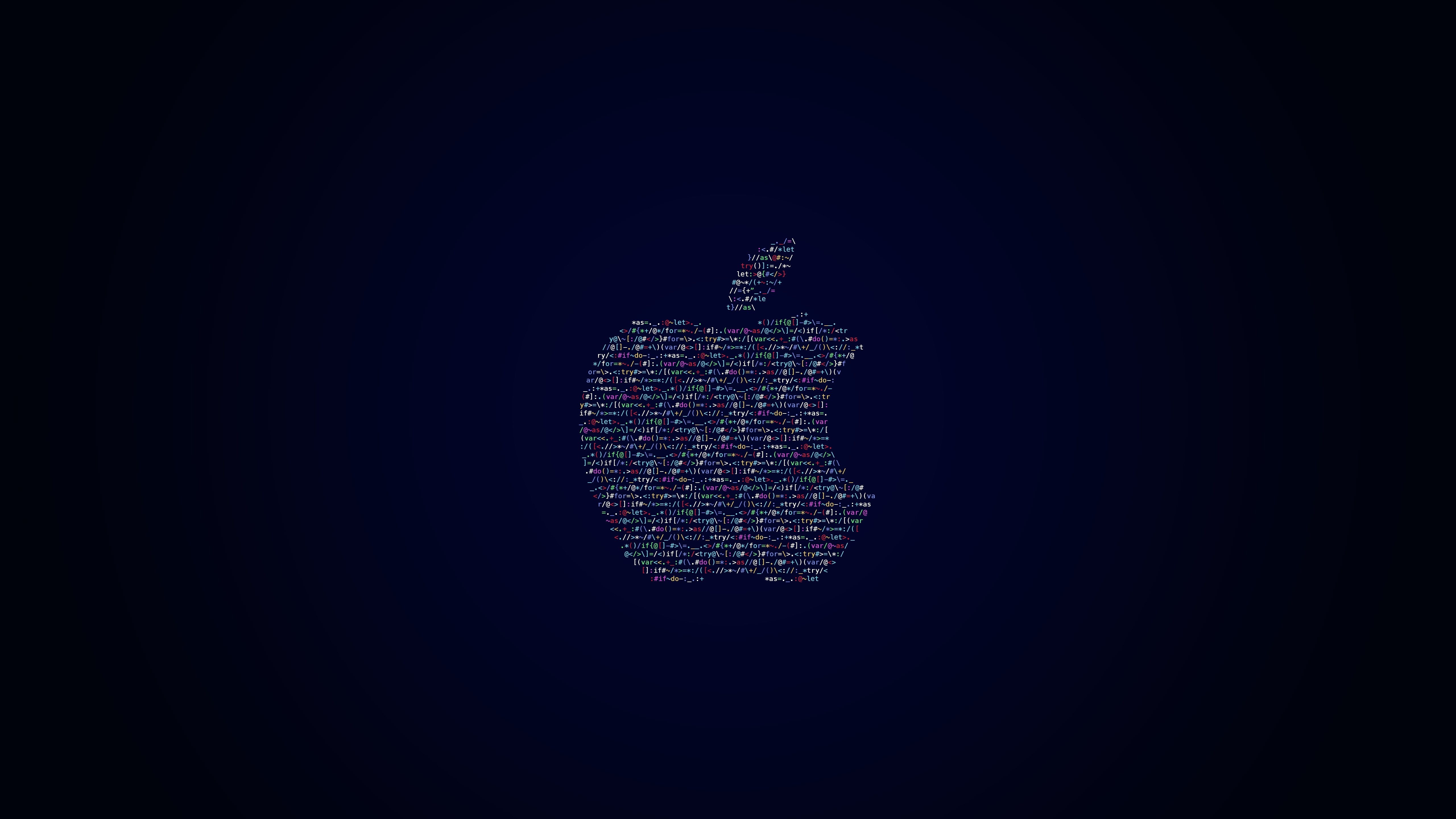 Logo da Apple feito em código