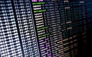 Software de mineração de criptomoeda trabalhando