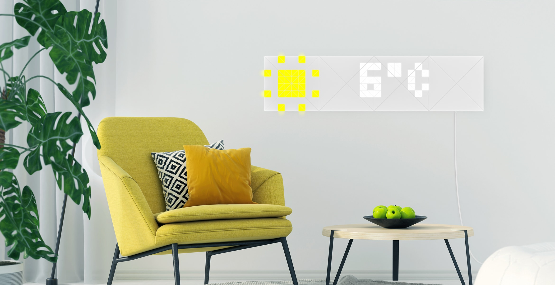 LaMetric Sky, conjunto de LEDs para parede