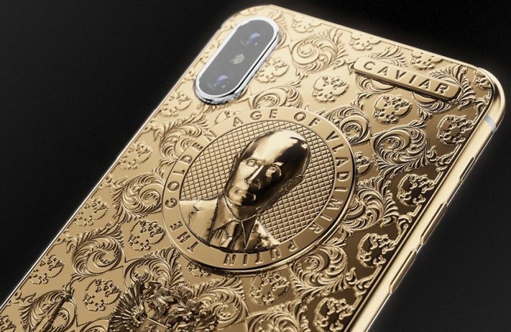iPhone com o rosto de Vladimir Putin