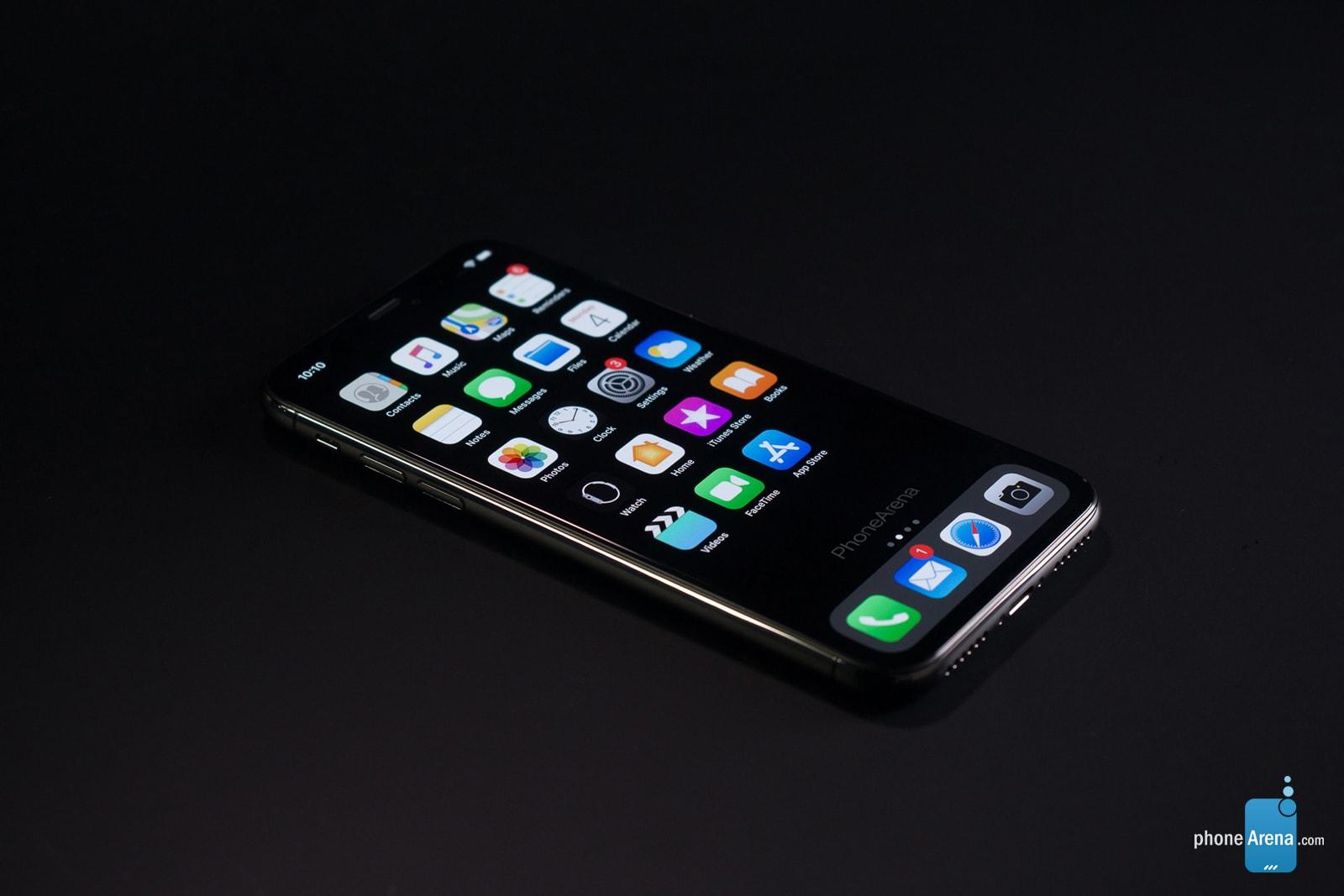 Conceito de iPhone XI rodando o iOS 13 com Modo Escuro