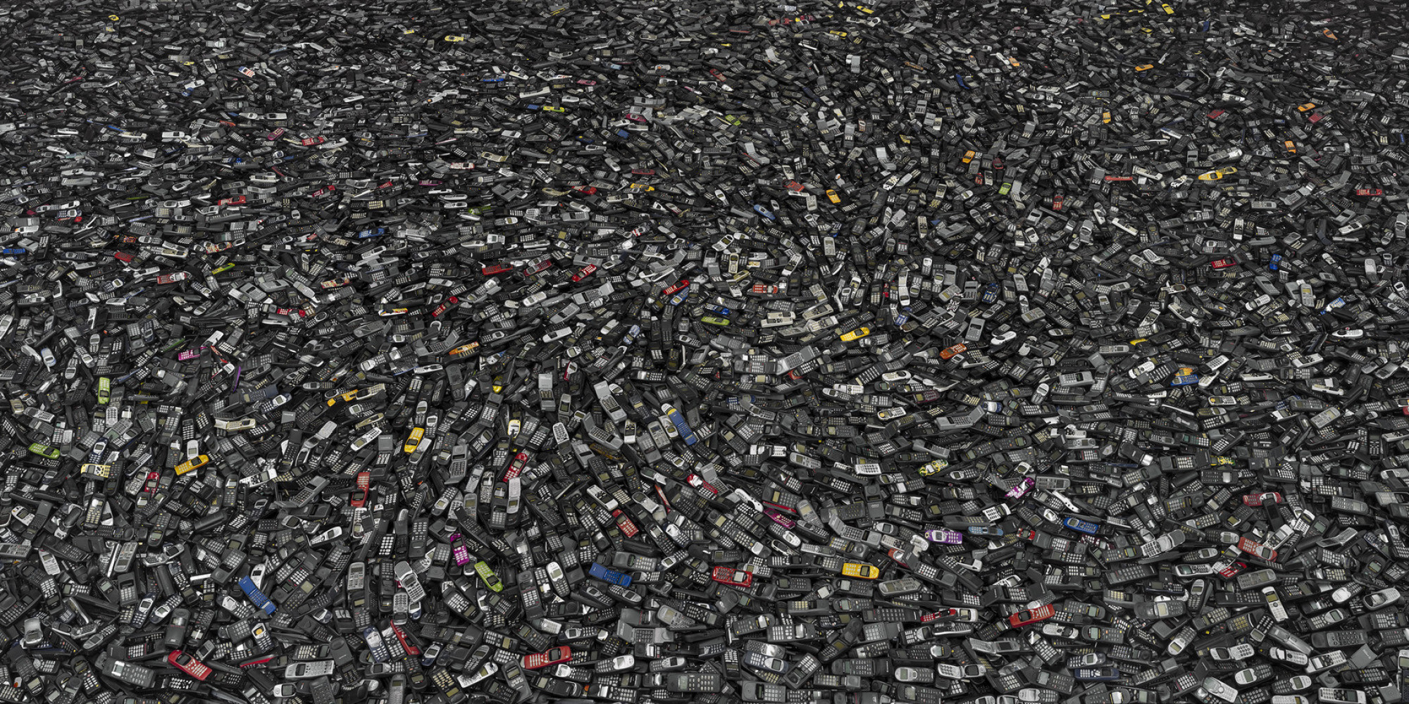Telefones no lixo