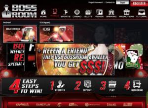 Site de jogos de azar com propaganda para app ilegal para iOS