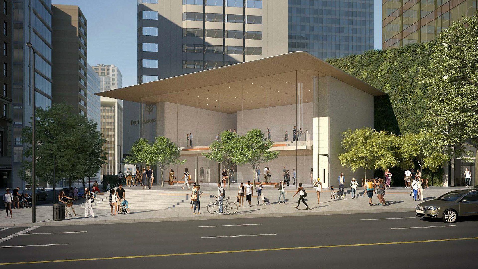 Render da Apple Pacific Centre, em Vancouver