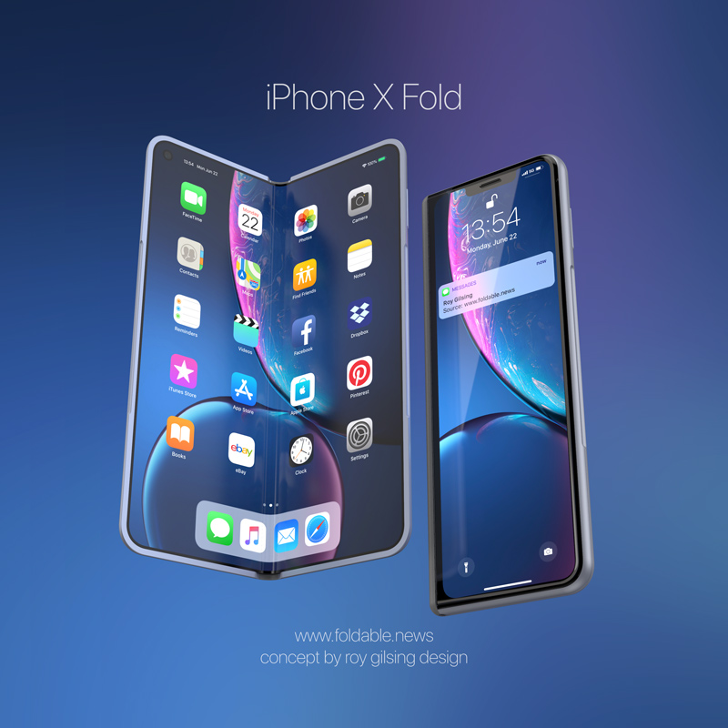Conceito: iPhone X Fold