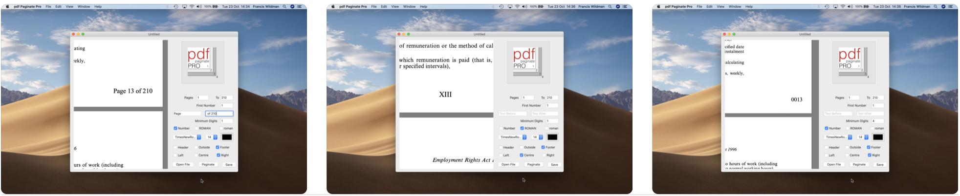 pdf Paginate Pro