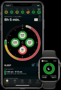 Aplicativo AutoSleep, um dos mais famosos da App Store para monitoramento de sono