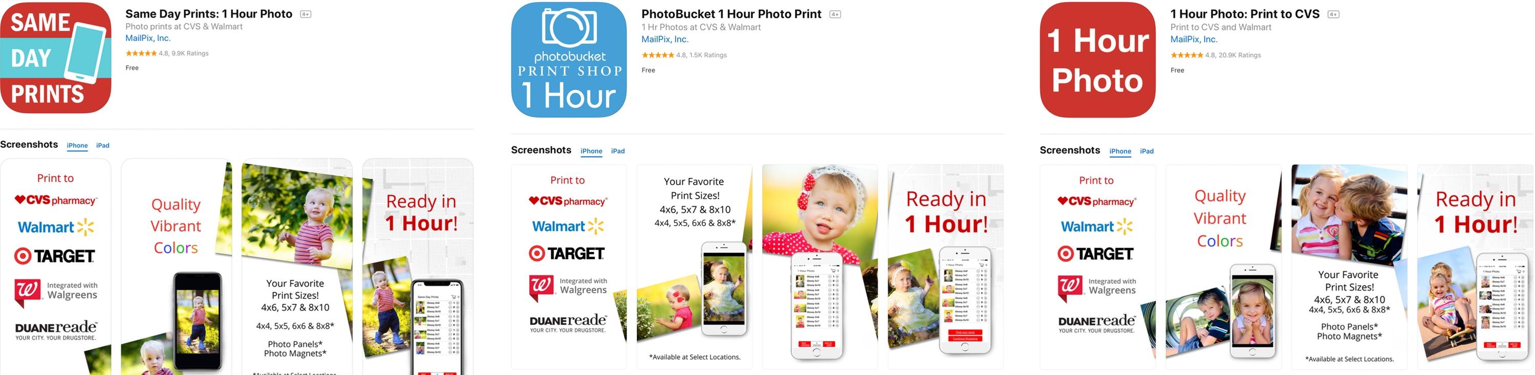 Apps da MailPix na App Store