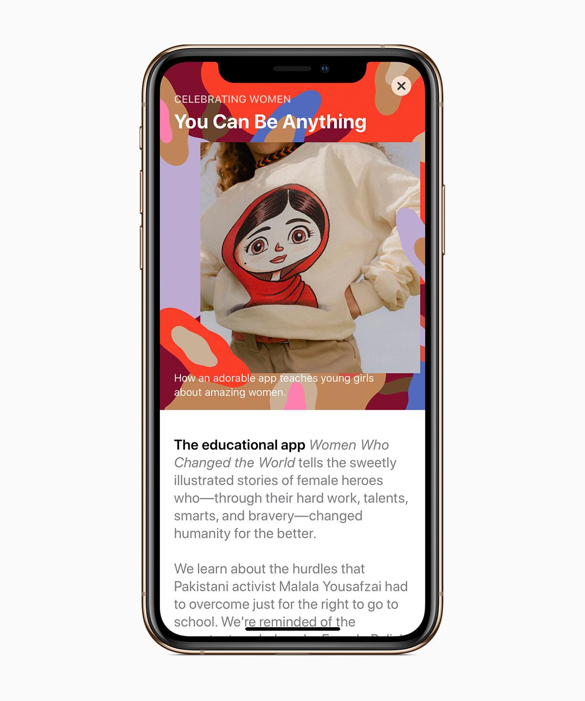 App Store destacando apps de mulheres no mês internacional da Mulher