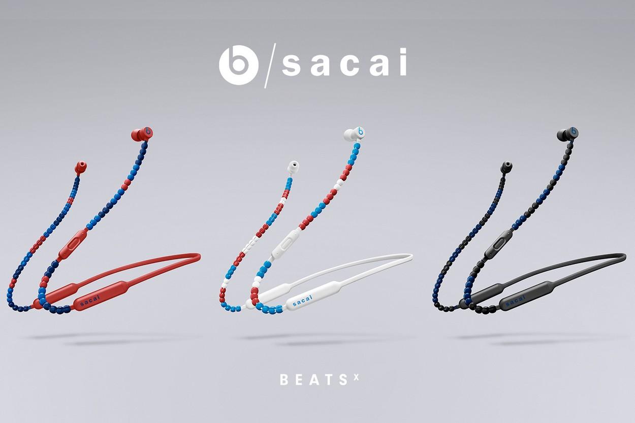 Edição especial dos fones BeatsX em parceria com a grife Sacai