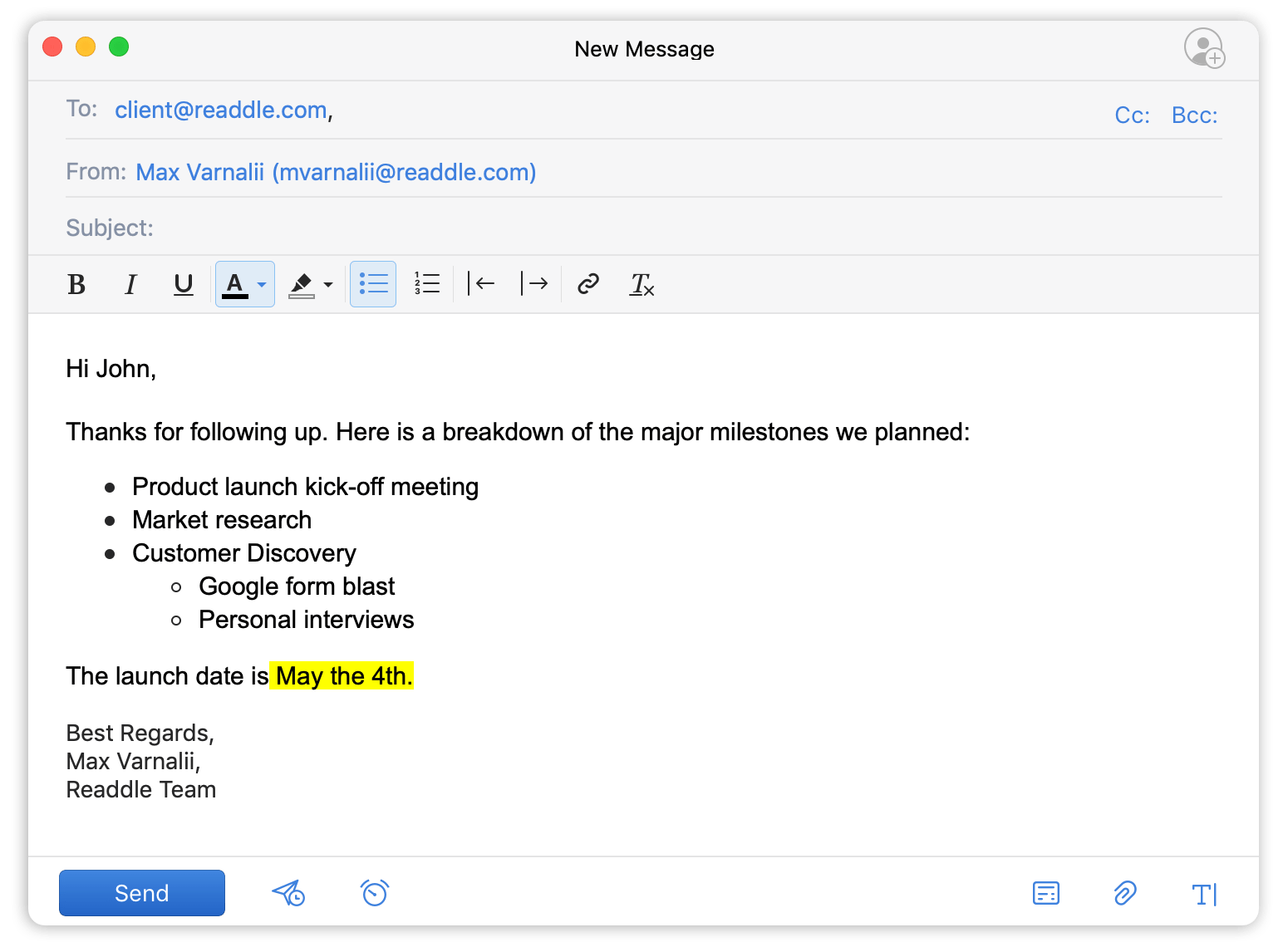 Formatação de textos no Spark para Mac