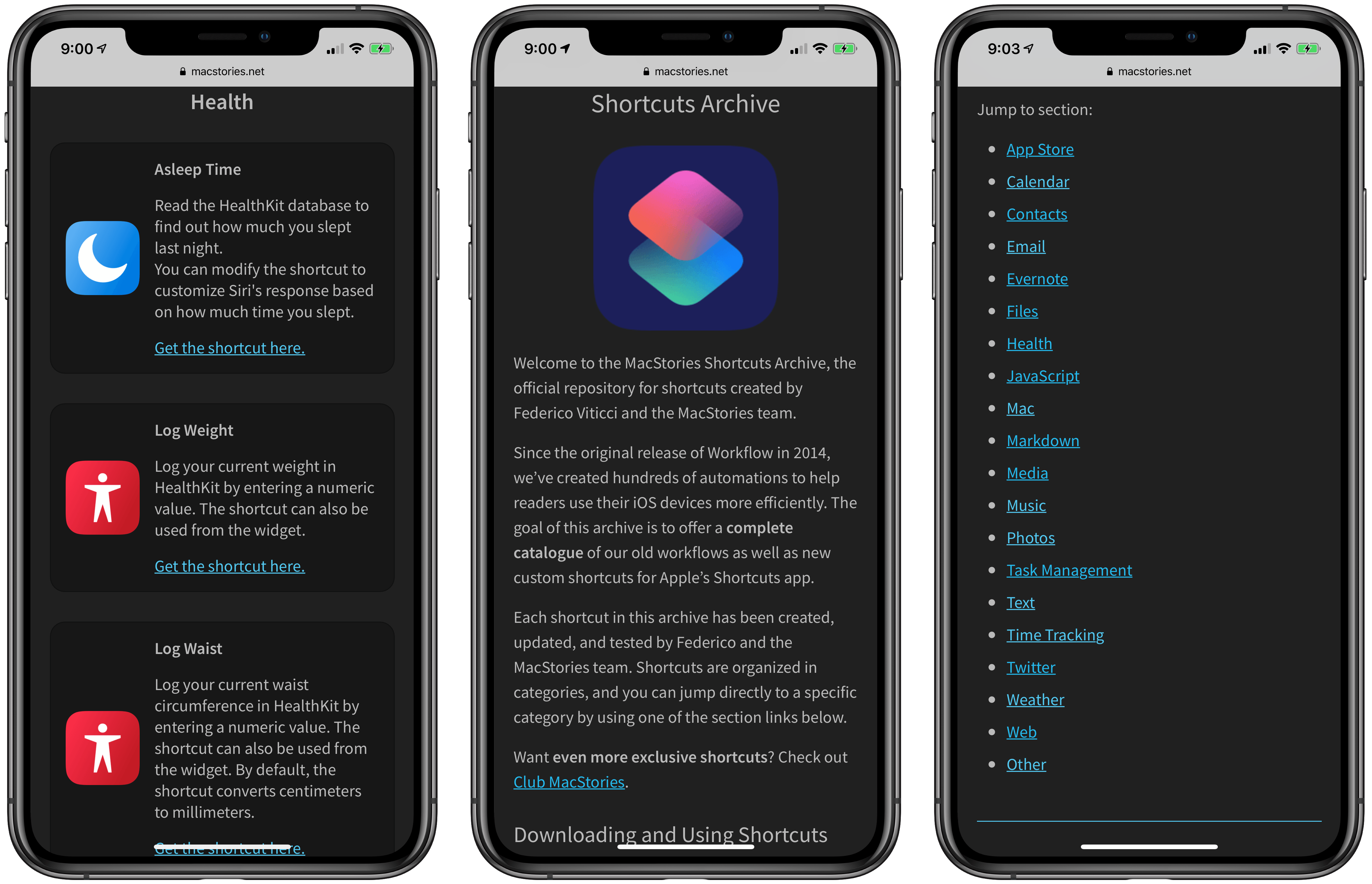 MacStories Shortcuts Archive