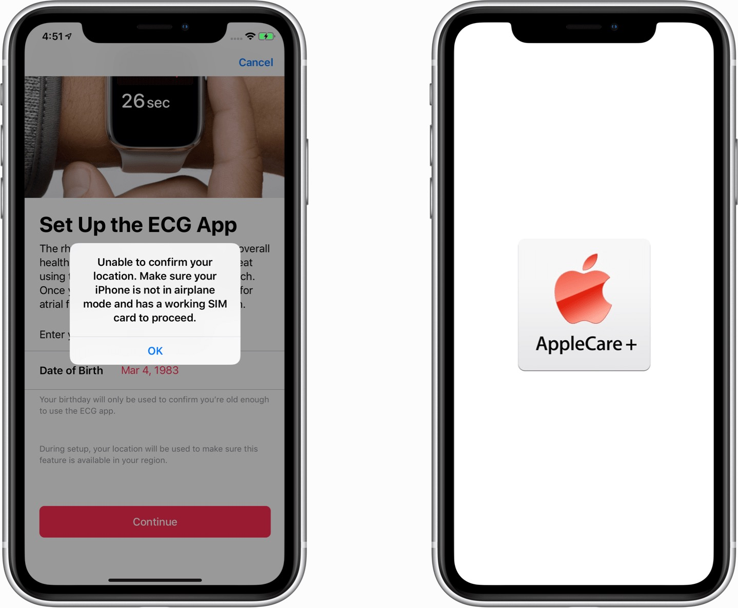 ECG e AppleCare - iOS 12.2 beta 5