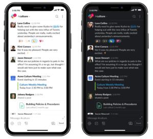 Novo modo escuro no Slack para iOS