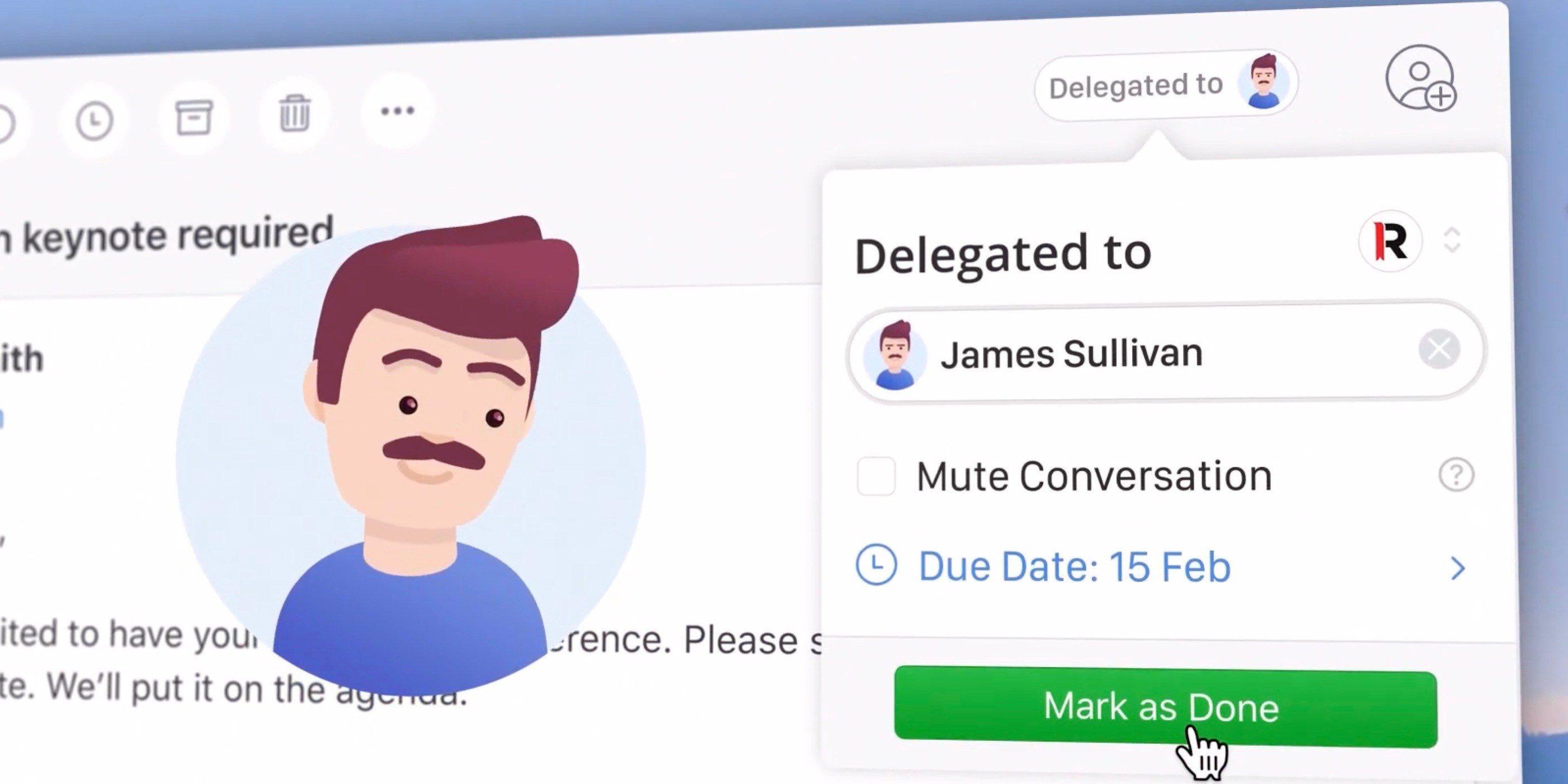 Delegação de emails no Spark