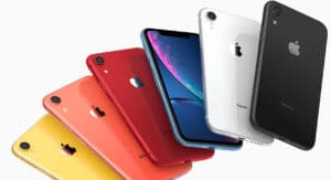 Todas as cores do iPhone XR sobrepostas