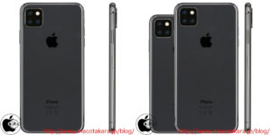 """iPhone XI"" e ""iPhone XI Max"" renders"