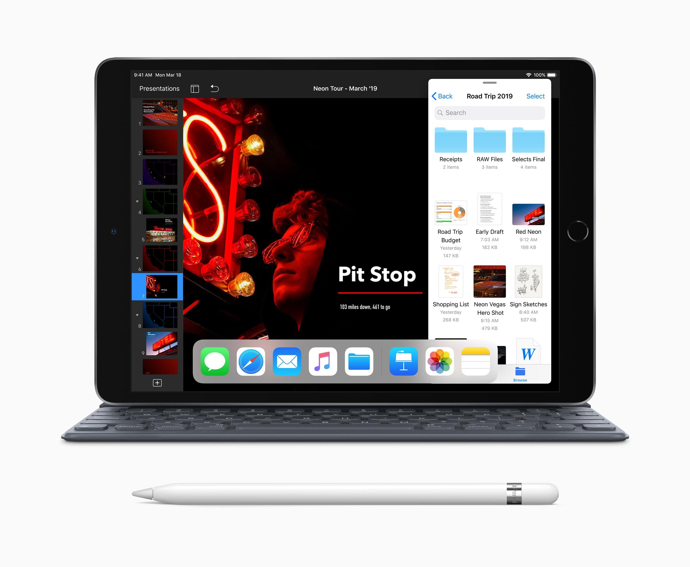 Novo iPad Air com Apple Pencil e Smart Keyboard