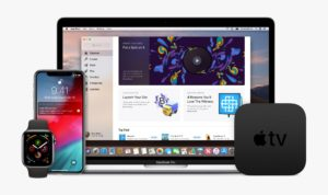Plataformas Apple - Apple Watch, iPhone, MacBook Pro e Apple TV