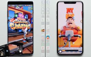 Teste de velocidade entre iPhone XS Max e Samsung Galaxy S10+