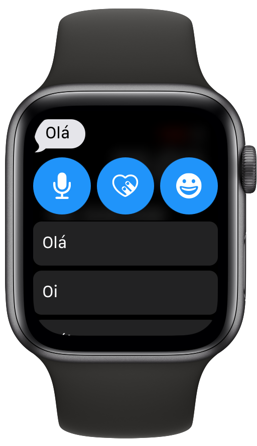 Mensagens no Apple Watch