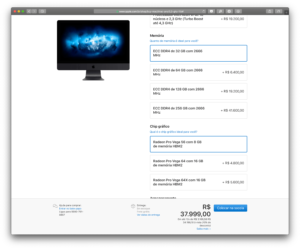 iMac Pro com 256GB de RAM