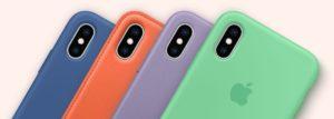 Novas cores de cases para iPhones