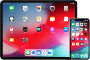 iOS 12 num iPad Pro e num iPhone XS Max