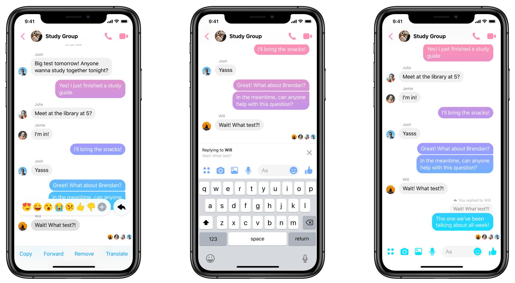 Threads no app do Facebook Messenger