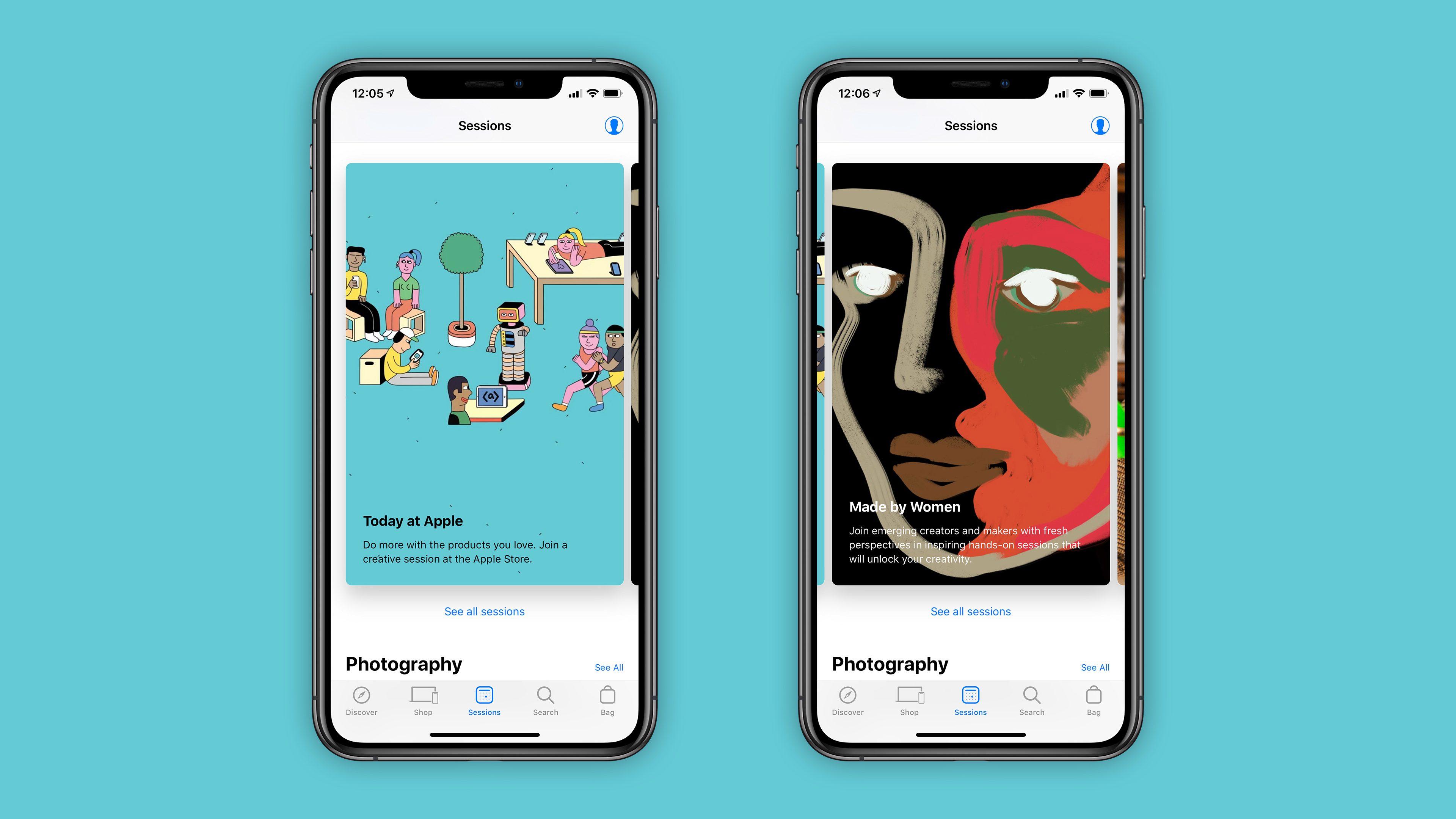 Visualização Apple Store para iOS