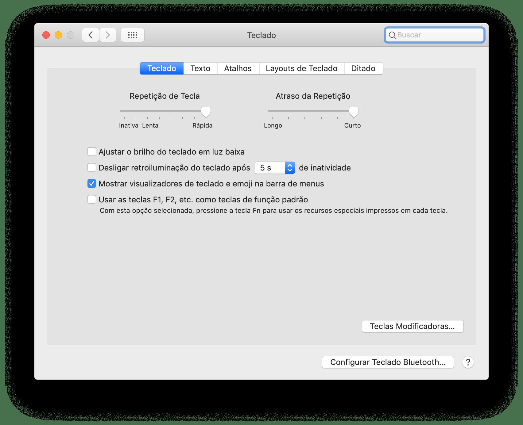 Visualizando emojis e símbolos especiais no macOS