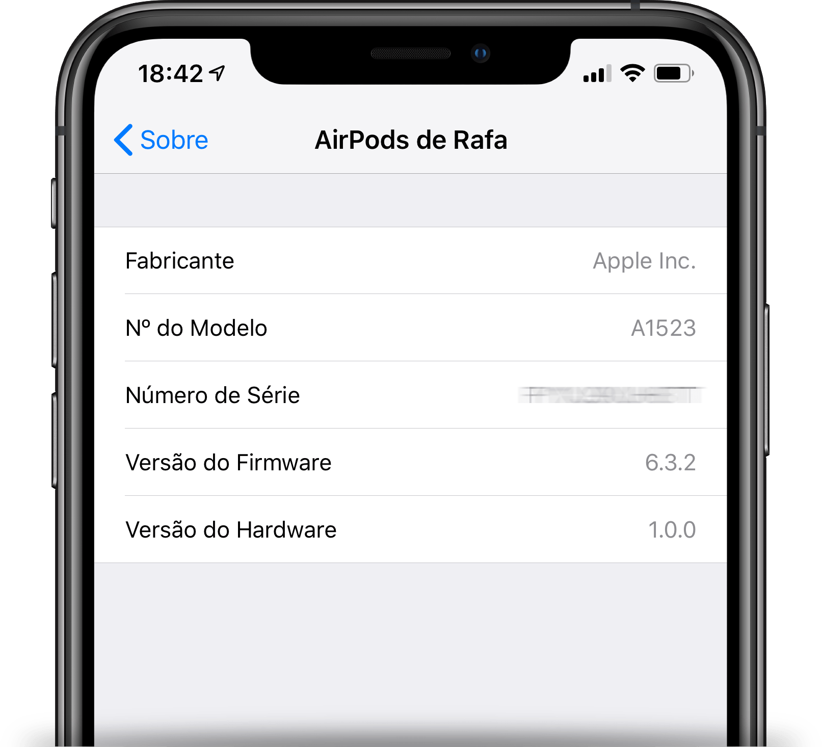 Firmware dos AirPods