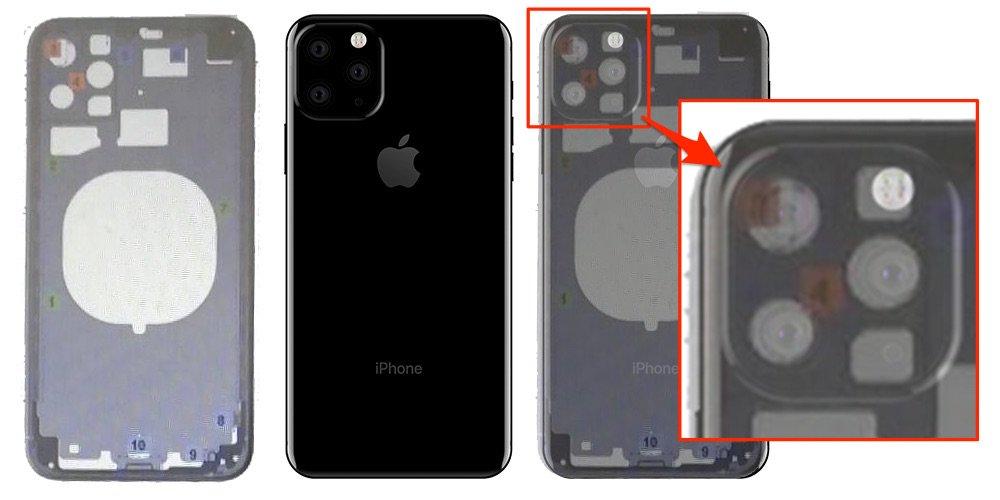 Esquema técnico do iPhone XI
