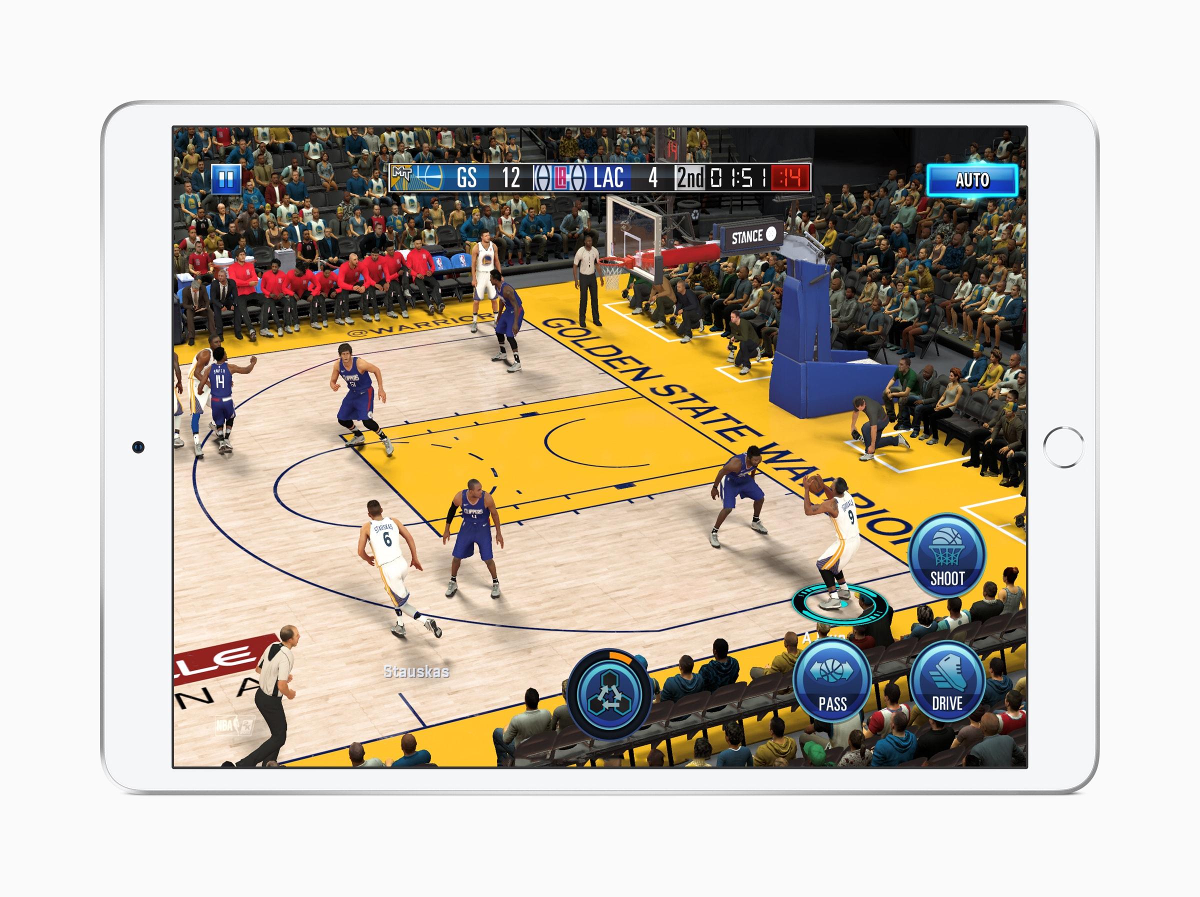 iPad Air com jogo da NBA