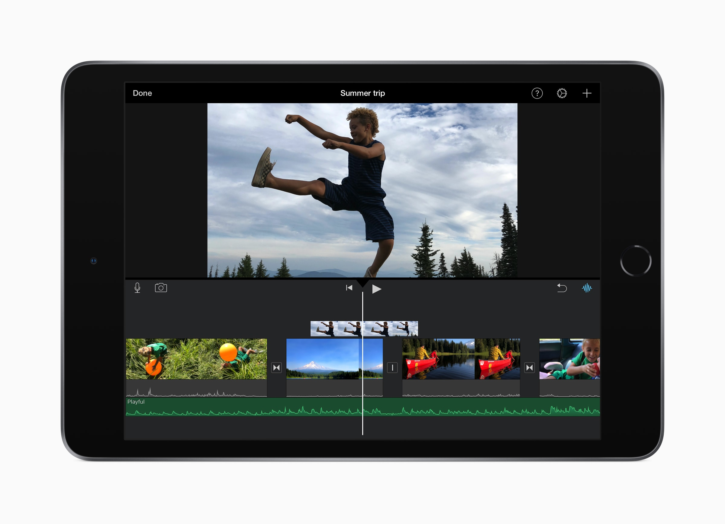 iPad mini editando filme no iMovie