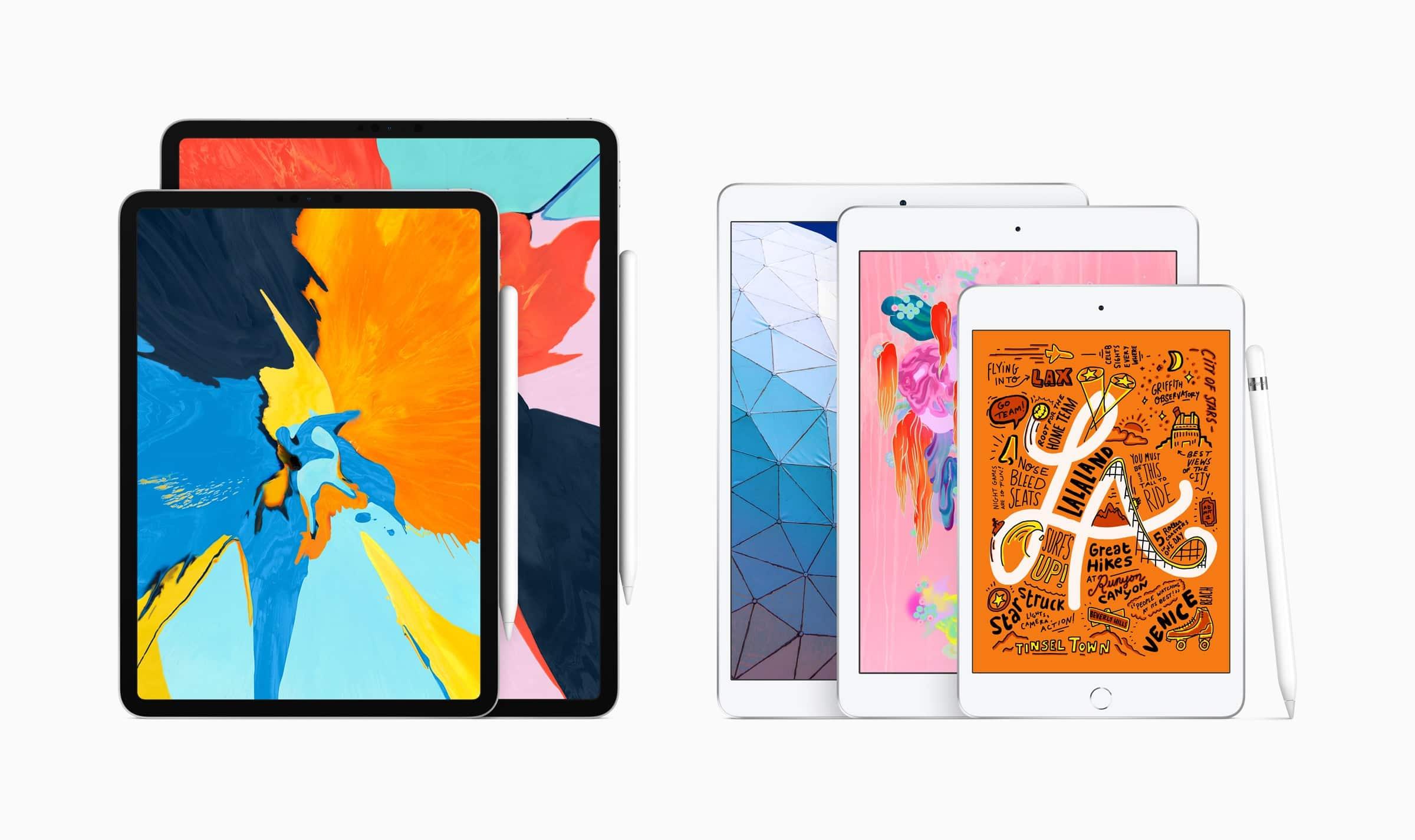 Nova linha de iPads Pro, iPad Air, iPad e iPad mini