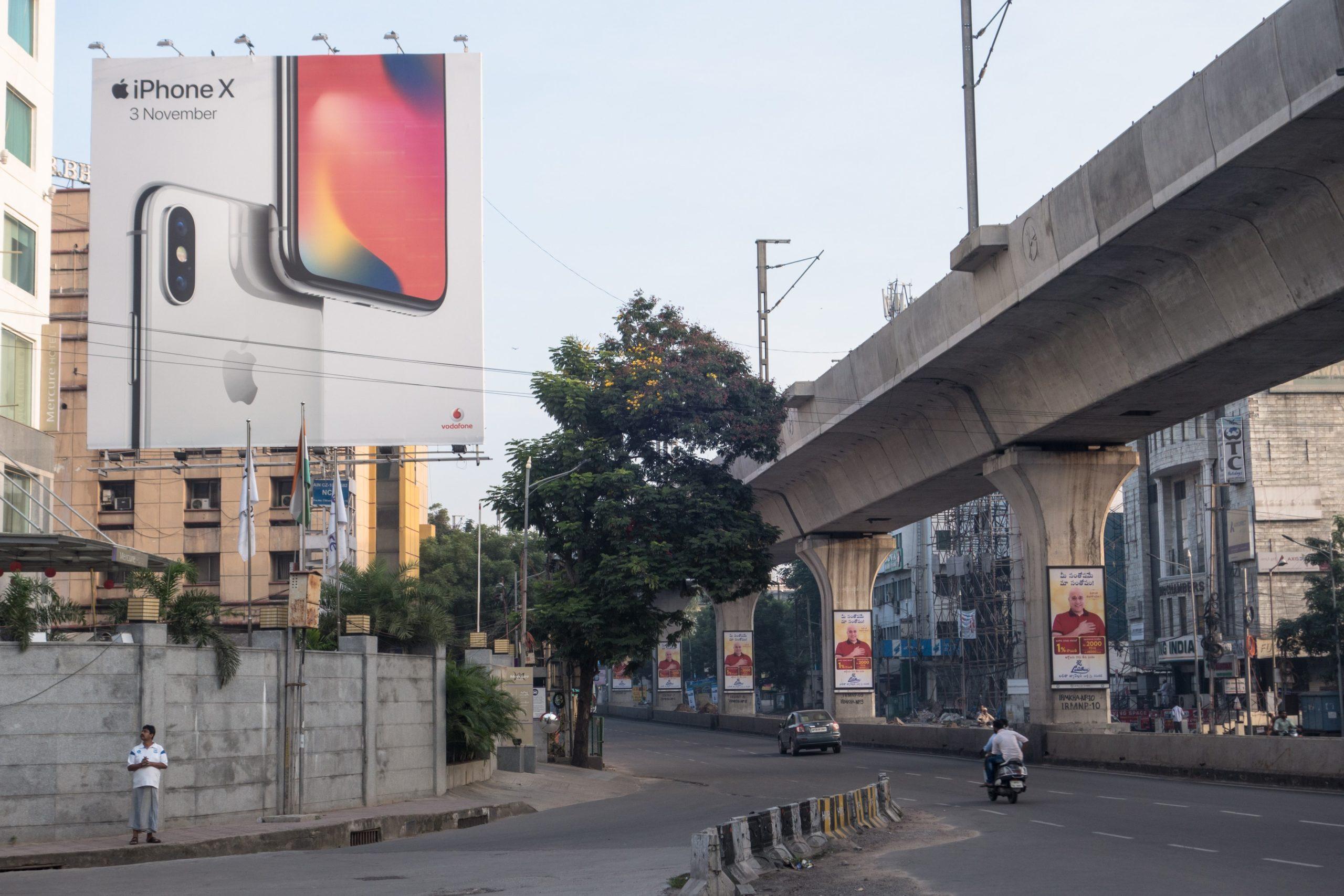 Propaganda do iPhone X na Índia