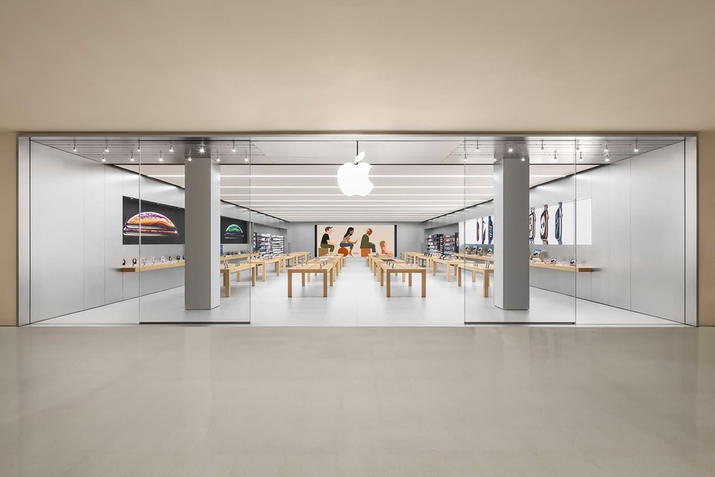 Apple Morumbi com o novo telão 5K no fundo
