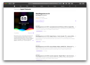 MacMagazine no Ar pelo Apple Podcasts na web