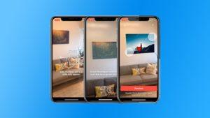 Recurso de realidade aumentada no app da Shutterstock para iOS