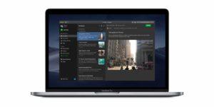 Modo escuro do Evernote para macOS