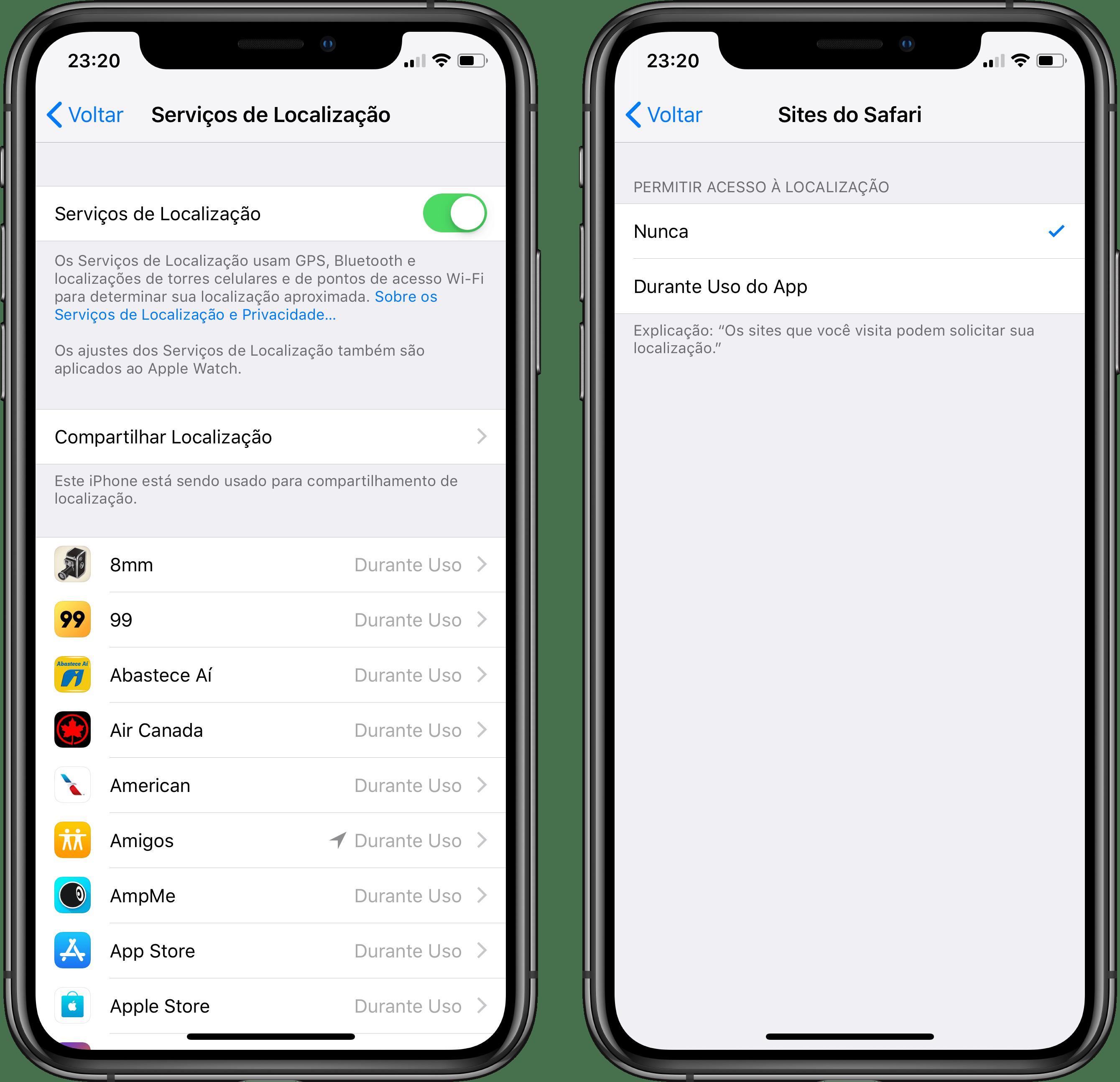 Serviços de localização no iOS