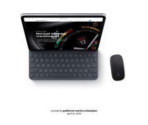 Conceito de iPad com mouse