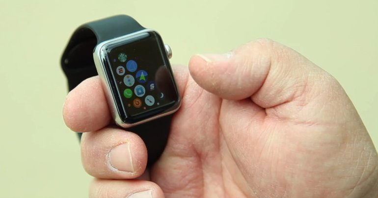 Apple Watch de Robert Bainter, devidamente recuperado e funcionando
