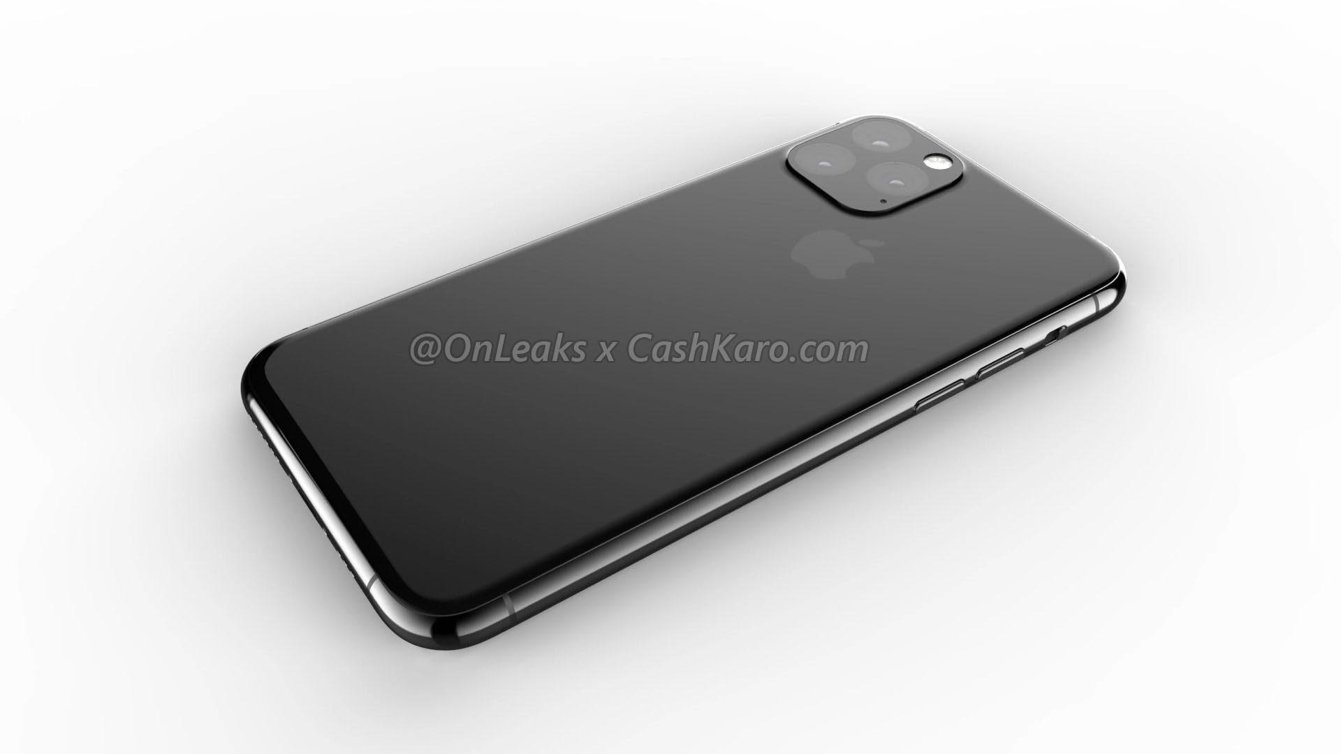 Render de suposto iPhone de 2019 por OnLeaks