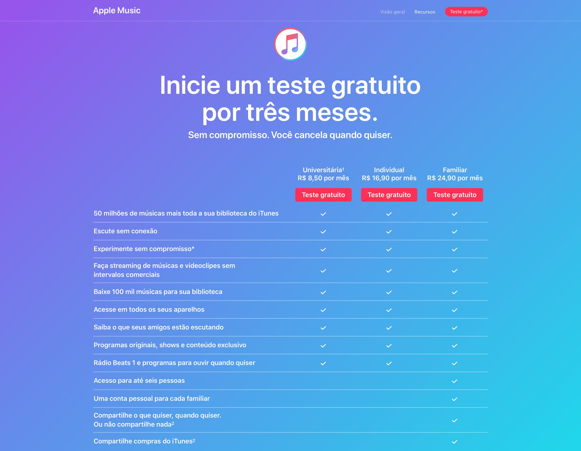 Período de testes do Apple Music volta a ser de três meses