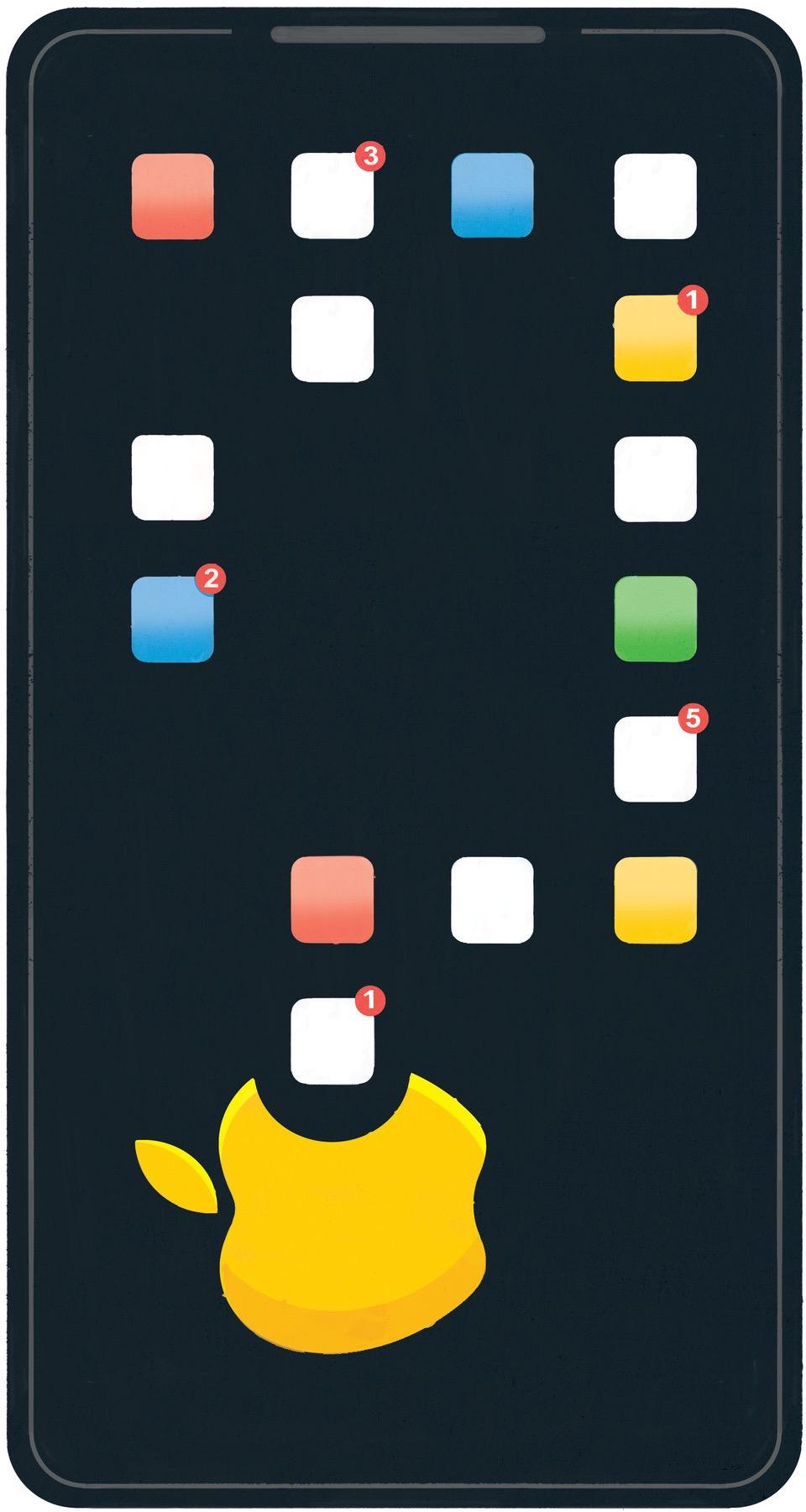 Ilustração do The New York Times sobre a Apple removendo aplicativos focados em controle de dados da App Store