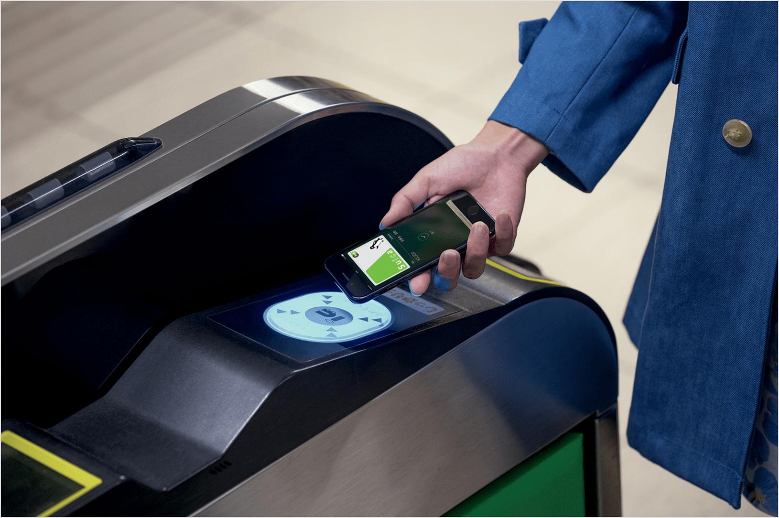 Apple Pay sendo usado no transporte público japonês
