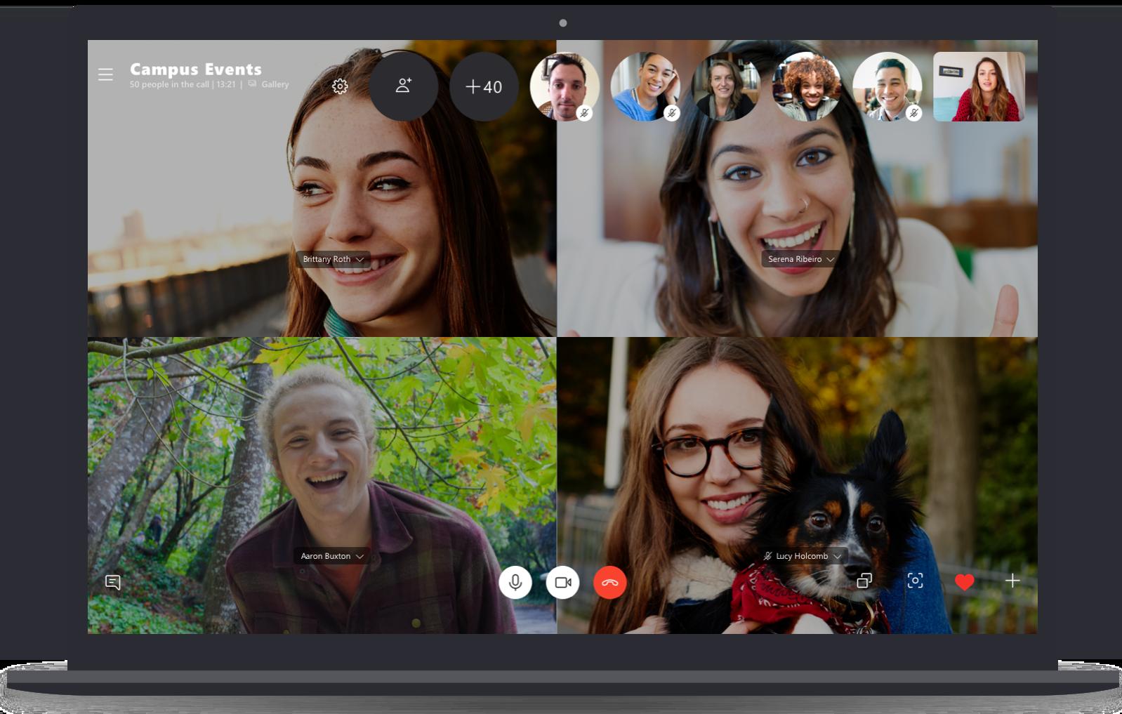 Chamadas em grupo para até 50 pessoas no Skype